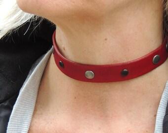 Handmade Leather Adjustable Choker