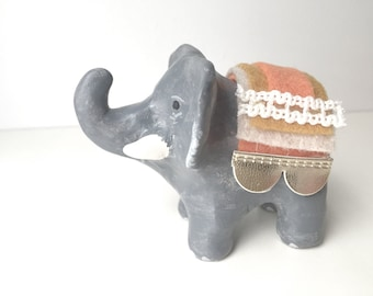 elephant totem with riding blankets