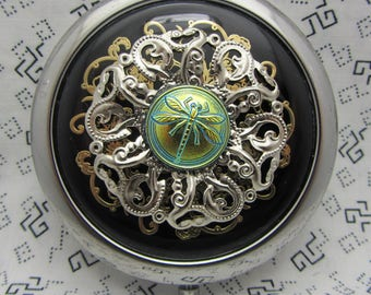 Dragonfly Compact Mirror Irredescent Dragonfly Comes With Protective Pouch Included Gift For Her