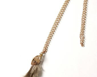 """""""Bena"""" necklace with feather"""