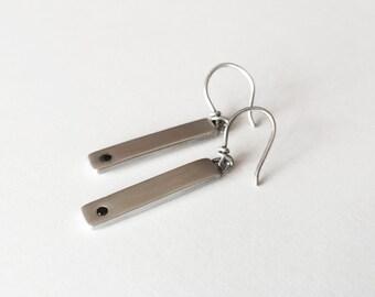 Black Diamond Earrings - Handmade with Sterling Silver