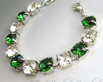 Custom Crystal Bridesmaid Bracelet - Available in any color or combination of colors