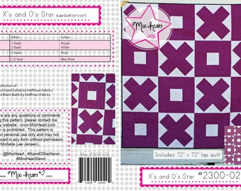 X and O Star PDF Quilt Pattern