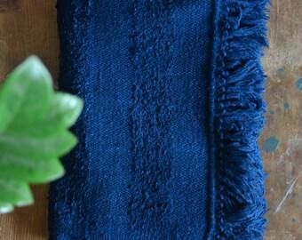 Hand-spun and handwoven Khadi hand-towel , handloom towel , cotton towel , Indian cotton towel , Khadi fabric