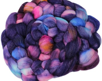 Inside Joke - hand-dyed merino wool and silk (4 oz.) painted combed top