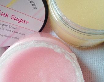Pink Sugar - Sugar Scrub - Sugar Body Scrub - Aloe Sugar Scrub - Hand Sugar Scrub - Bath and Body - Aloe Vera Scrub