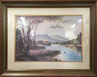 """Russell May """"Silent Sycamores"""" Print, Matted and Framed, Signed and Numbered"""