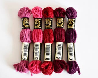 DMC Tapestry Wool - Set for 5 , Assorted Colours