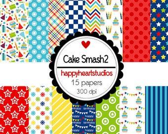 Digital Scrapbooking CakeSmash2, Instant Download