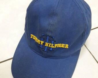 Vintage Tommy Hilfiger Cap dad Hat sun visor Blue