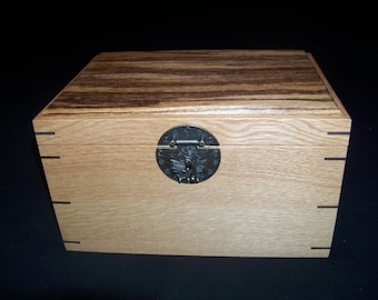 White Oak/Zebrawood Jewelry Box With Tray