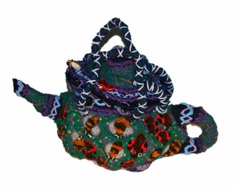 Fertilitea (David Wolfe, 2015) surreal embroidered handbag or interior art