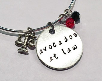 Avocados at Law Daredevil Matt Murdoch Foggy Nelson Adjustable Bangle Charm Bracelet