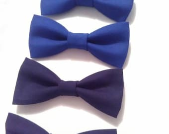Boys bow-ties, sleek design in navy and royal blue
