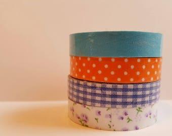 Cloth Washi Tape- dot gingham floral