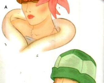 "SALE* Simplicity 0287/1736, Sz S-M/21-22"" Head.  Ladies Retro 20s style Hat/Fedora/Bucket/Cloche, Theresa Laquey hat pattern"