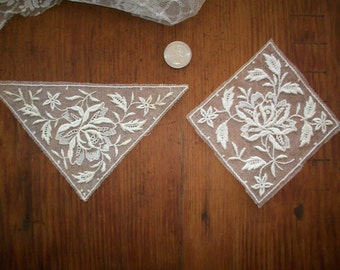 1-1920s antique net lace applique