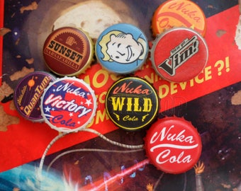 set of 10 fallout unofficial nuka cola quantum bottle caps set