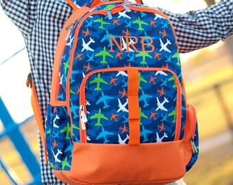 Boys Gator Backpack - School Backpack - Blue Monogram Backpack - Preschool Backpack - Boys Monogram Backpack - Boys Monogrammed Backpack