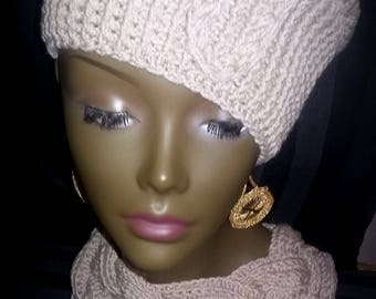 Hat and Braided Neck Cowl