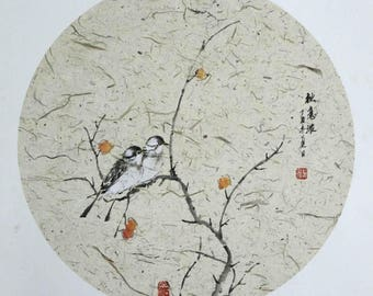 Birds | Tree | Chinese Painting | Ink and Color on Rice Paper
