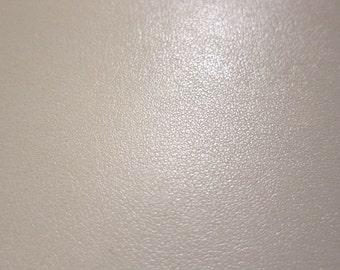 Faux Leather Fabric in Lambskin Pattern - Cream - Half Yard - Vegan Leather