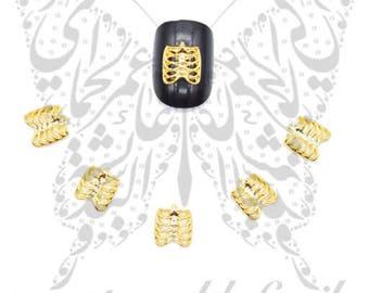 Rib Cage 3D Nail Art Decoration / 2pcs