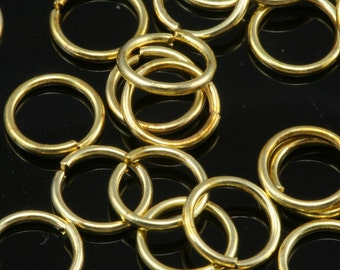 Open jump ring 7 mm 20 gauge( 0,8 mm ) raw brass (varnish) jumpring 720JV-19 1161V