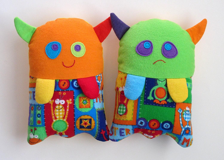Stuffed monster toy pattern pdf sewing pattern for plush zoom jeuxipadfo Choice Image