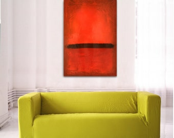 Red, orange, abstract painting, 24 x 36 - Abstract art 183, Mid century modern art, acrylic painting, abstract painting, abstract wall decor
