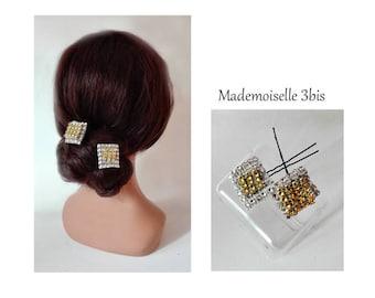 hair jewelry gold fabrics, hat, wedding, party hair pin, barrette, bun fork silver