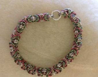 Three-toned Byzantine Chain Bracelet
