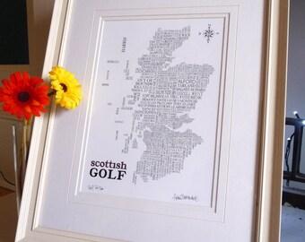 Scottish Golf Word Map