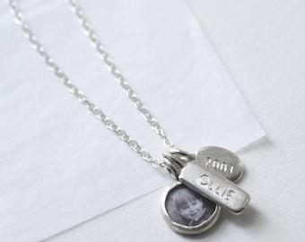 Personalised necklace, personalised necklace, photo necklace,name necklace, date necklace, Handmade Family Keepsake necklace