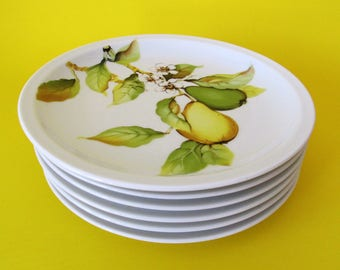 Two Scherzer Salad, Dessert Plates, Pears, Bavaria Germany, More Available