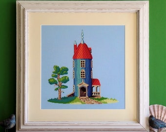 Moominhouse - Modern Cross Stitch - Pattern/PDF instant download
