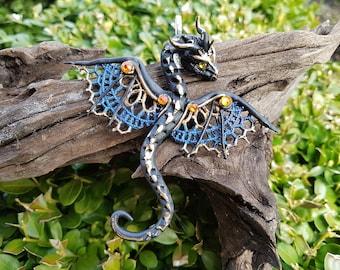 Lace Dragon Pendant