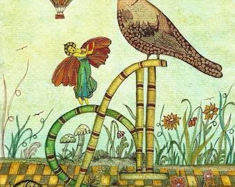 """Art postcard photography """"A Annie, Arthur, Armand, David Anthony, Anne..."""". Gift, animal art, décor"""