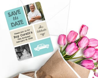 Then and Now - Card - Save the Date - Includes Back Side Printing + Envelope