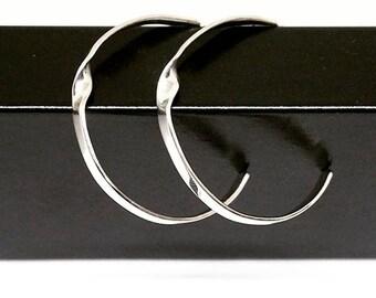 TWIST Silver Hoops