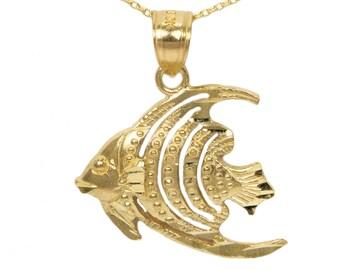 14k Yellow Gold Fish Pendant