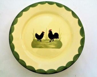 & Rooster dinner plate | Etsy