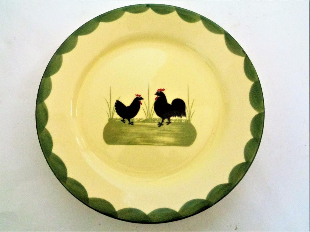 Vintage ZELLER KERAMIK Cock Rooster Hen Plate Vintage Dinner