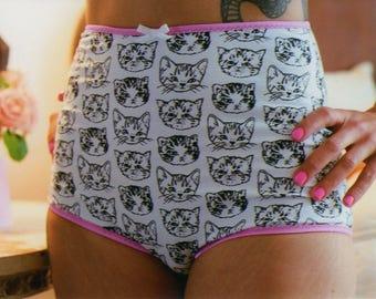 littlefour women's high waisted kitty cat panties
