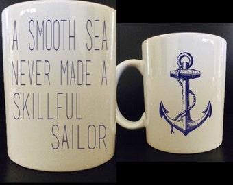 Anchor Coffee Mug - Inspirational Coffee Mug - Coffee Mug