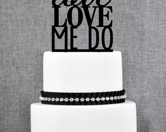 Cake Topper - Love Love Me Do by Chicago Factory- (T058)