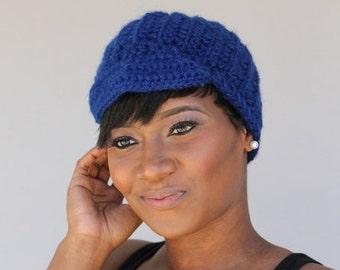 Royal Blue Hat - Cloche - Cap- Newsboy Hat