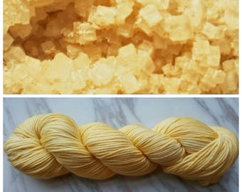 Hand Dyed Yarn, Superwash Merino Worsted Weight Tonal Yarn Perfect for Hats, Cowls, Scarves and Sweaters - Cubic Halite