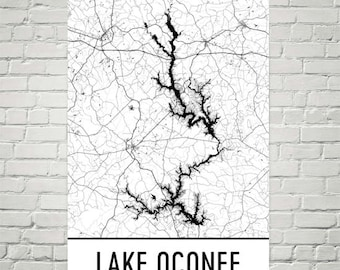 Lake Oconee Georgia, Lake House Decor, Lake Oconee GA, Lake Life, Lake Signs, Lake Art, Oconee Lake Art, Lake House Wall Art, Lake Pictures