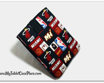 Tablet Case, iPad Cover, Miami Heat,  Kindle Fire Sleeve, 7 , 8, 9, 10 inch Tablet  Sleeve, Cozy, NBA,  Handmade, FOAM Padding, Holiday Gift